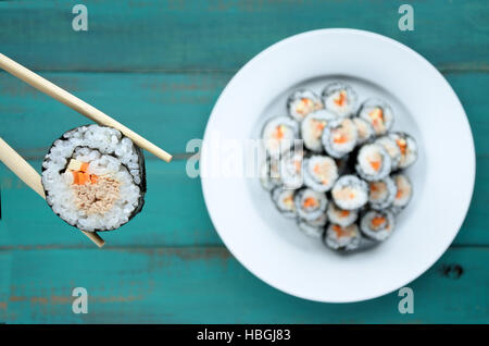 hausgemachte japanische maki sushi stockfoto bild 16118253 alamy. Black Bedroom Furniture Sets. Home Design Ideas