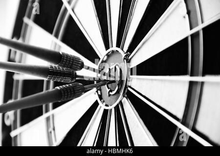 Dart Bullseye Ziel - Stockfoto