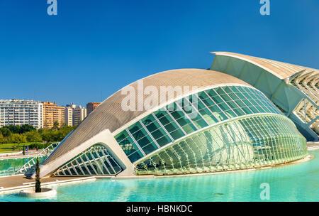 Hemisferic in Stadt der Künste und Wissenschaften - Valencia, Spanien - Stockfoto