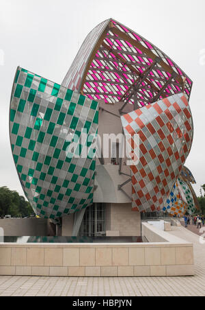 Fondation Louis Vuitton Museum, Paris, Bois De Boulogne, Frankreich - Stockfoto