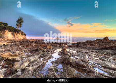 Kleine Corona Beach in Corona Del Mar - Stockfoto