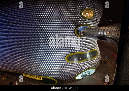 Selfridges-Kaufhaus in der Nacht, Bullring Shopping Centre in der Nacht, Birmingham, West Midlands, England, Vereinigtes - Stockfoto