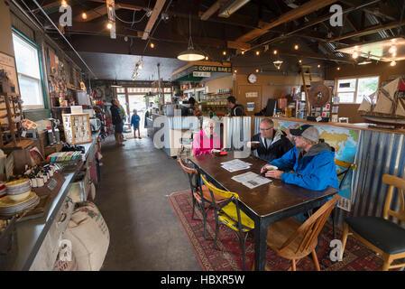 Siuslaw River Kaffeeröster in Florence, Oregon. - Stockfoto