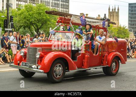 Australia Day Stadt Adelaide - Parade! - Stockfoto