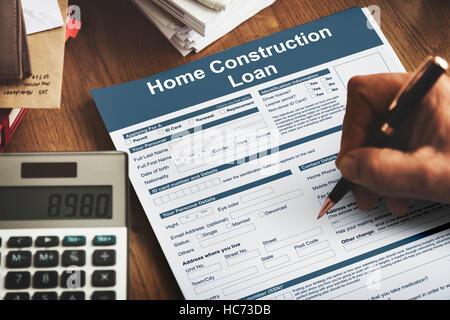 Hausbau Kredit Versicherung Schutzkonzept - Stockfoto
