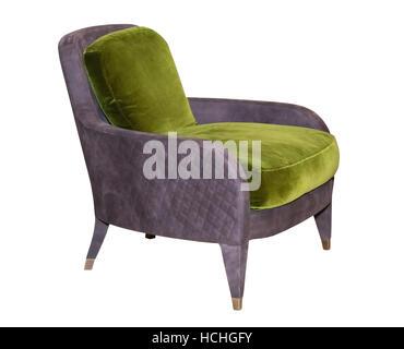 Textile braun Stuhl - Stockfoto