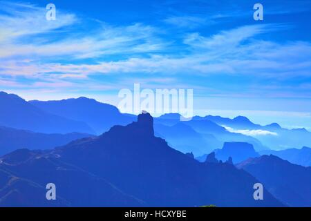 Roque Bentayga, Gran Canaria, Kanarische Inseln, Spanien - Stockfoto