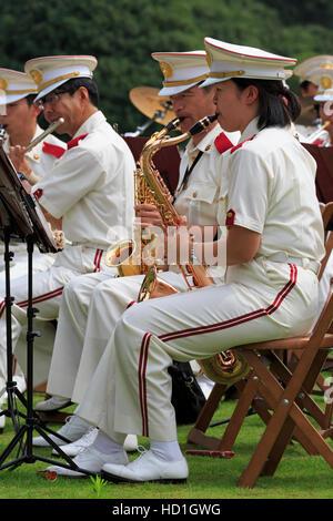 Band, Imperial Palace Garden, Tokyo, Japan - Stockfoto