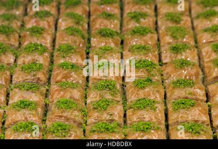 Türkische Ramadan Nachtisch Baklava mit Konzept-Hintergrund - Stockfoto