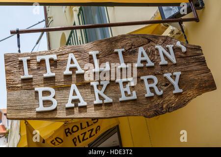 Italian Bakery Schild ein Bäcker in Ravello, Italien. - Stockfoto