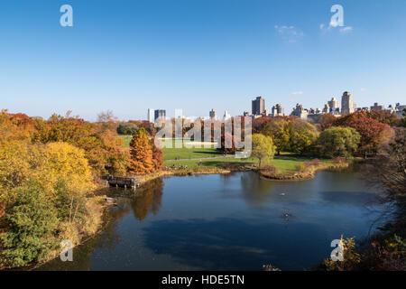 Schildkrötenteich, Central Park im Herbst, NYC - Stockfoto