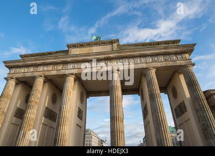 Blick auf das Brandenburger Tor in Berlin, Deutschland - Stockfoto