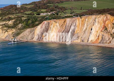 Alum Bay und Klippen, Isle Of Wight, Großbritannien - Stockfoto