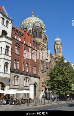 Synagoge, Oranienburger Straße, Mitte, Berlin, Deutschland - Stockfoto
