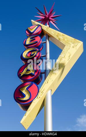 Vegas Neon Sign, Fremont Street, Neon Museum, Las Vegas, Nevada... - Stockfoto