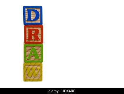alphabet auf ein baby w rfel buchstaben stockfoto bild. Black Bedroom Furniture Sets. Home Design Ideas