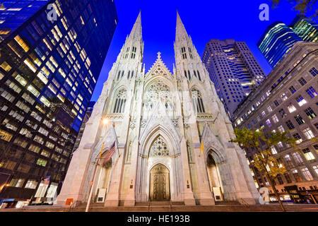 St. Patricks Kathedrale in New York City. - Stockfoto