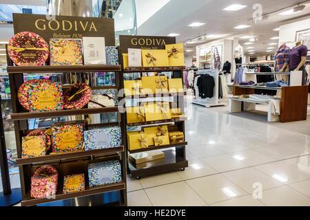 Miami Florida Aventura Mall Macy's Department Store Interieur Anzeige Verkauf Godiva-pralinen - Stockfoto