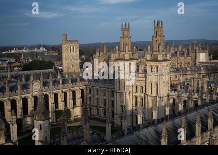 Allgemeine Ansichten von Oxford, die Universitätsstadt in England, UK - Stockfoto