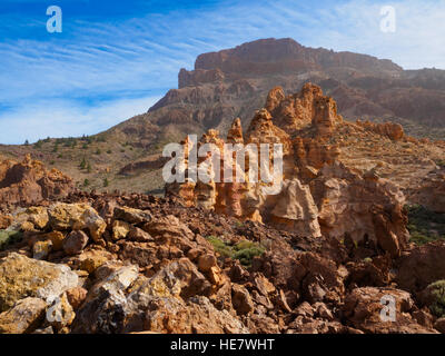Vulkanlandschaft im Parque Nacional del Teide auf Teneriffa - Stockfoto