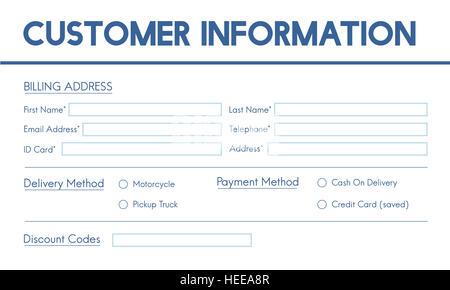 Rechnung Billing Information Form Grafikkonzept Stockfoto Bild