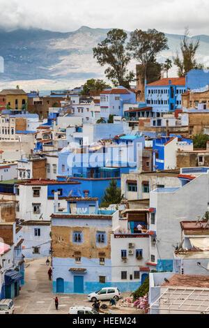 Medina, der Altstadt, Chefchaouen, Chaouen, Marokko - Stockfoto
