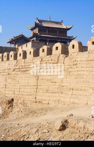 Jiayuguan Festung an der westlichen Grenze des Great Wall Of China, Gansu Provinz, China, Asien - Stockfoto