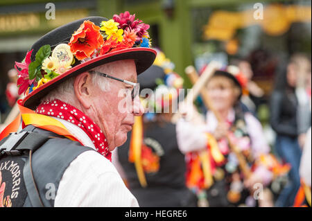 Musiker bei The Annual fegt Festival in Rochester Kent. - Stockfoto