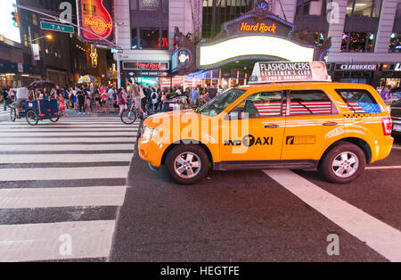 New York City gelbes Taxi cab - Stockfoto