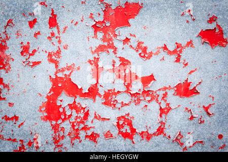 Die rot lackierten Scheune in Northumberland, abstrakten detail - Stockfoto