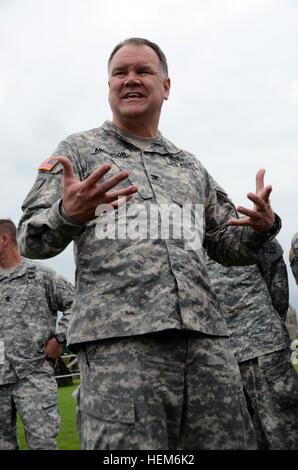 US Armee Oberst Björn Anderson, mit der Vereinigte Staaten Armee zivile Angelegenheiten & psychologische Operations - Stockfoto