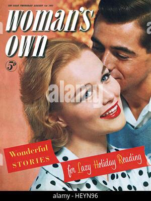 Vordere Abdeckung des Weibes Own Magazin für 1. August 1957 - Stockfoto