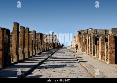 Herrliche Sicht auf den Ruinen von Pompeji-Italien - Stockfoto