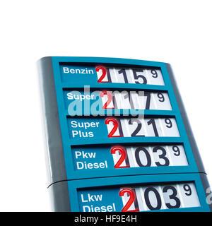 Symbolisches Bild, steigende Benzinpreise - Stockfoto