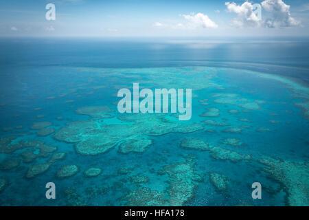 Great Barrier Reef von oben, Queensland, Australien - Stockfoto