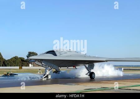 PATUXENT RIVER, Maryland (29. November 2012) Start Crew bereitet seinen ersten landgestützten Katapultstart X-47 - Stockfoto