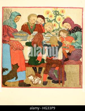 Weihnachtsbilder Nostalgie.Weihnachtsbilder Von Dulac Edmund 1882 1953 Stockfoto Bild