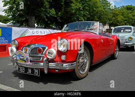 Klassische britische MGA-Sportwagen - Stockfoto