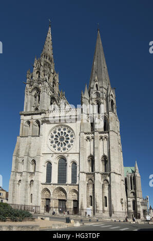 Die Kathedrale von Chartres, außen - Stockfoto