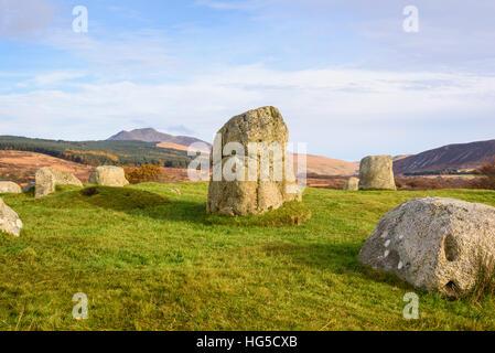 Fingals Kessel, Machrie Moor Stein Kreise, Isle of Arran, North Ayrshire, Schottland, Vereinigtes Königreich - Stockfoto