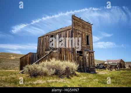 Geisterstadt Bodie in Kalifornien. Bodie ist eine historische State Park aus einem Goldrausch-Ära in Bodie Hügel - Stockfoto