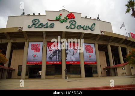 Pasadena, Kalifornien, USA. 2. Januar 2017. Der Rose Bowl gehostet ein spannendes Spiel, da die USC Trojans die - Stockfoto