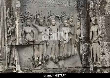 Angkor Wat Tempel größte religiöse Bauwerk der Welt, gebaut wie ein Hindu-Tempel des Gottes Vishnu für das Khmer - Stockfoto