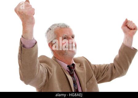 Jubilierende, ältere Mann - Stockfoto