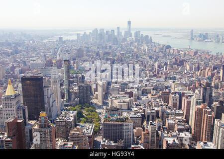 Blick auf das Zentrum von Manhattan, New York City, Vereinigte Staaten - Stockfoto