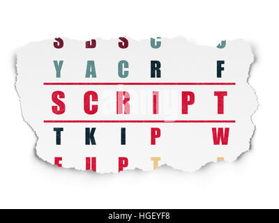 Programmierung-Konzept: Skript im Kreuzworträtsel - Stockfoto