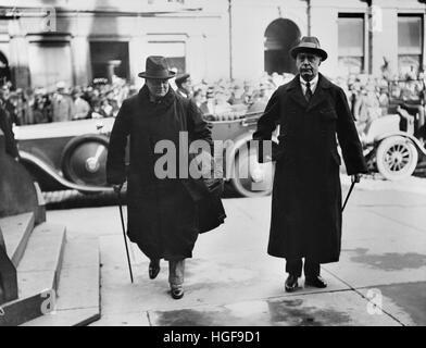 Winston Churchill mit dem Commander-in-Chief der britischen Streitkräfte in Irland; General Nevil Macready. September - Stockfoto