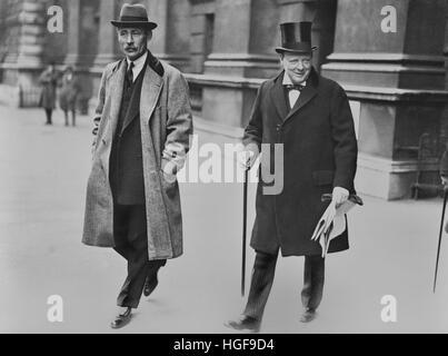 Winston Churchill als Kanzler des Finanzministeriums. 1924 - Stockfoto