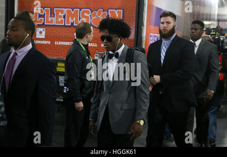 Tampa, USA. 9. Januar 2017. Clemson Tigers Wide Receiver Ray-Ray McCloud trägt das Stadion vor dem College Football - Stockfoto