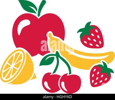 Fruchtansatz - gesunde frische Früchte
